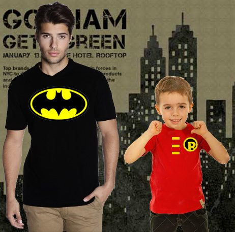 playera papa e hijo batman