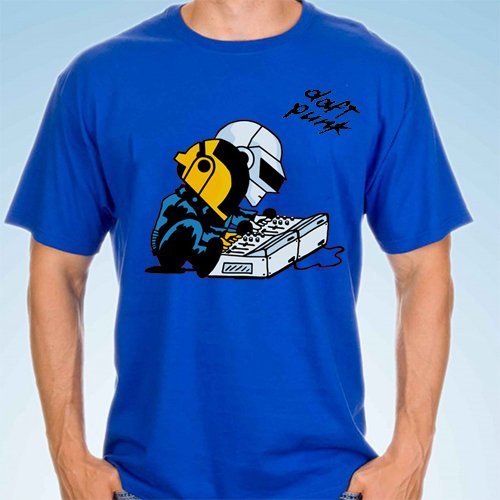 camiseta playera daft punk