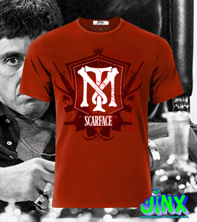 playera logo de scarface