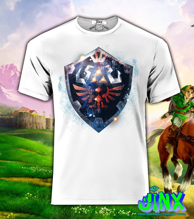 Playera o Camiseta Zelda Shield - comprar online