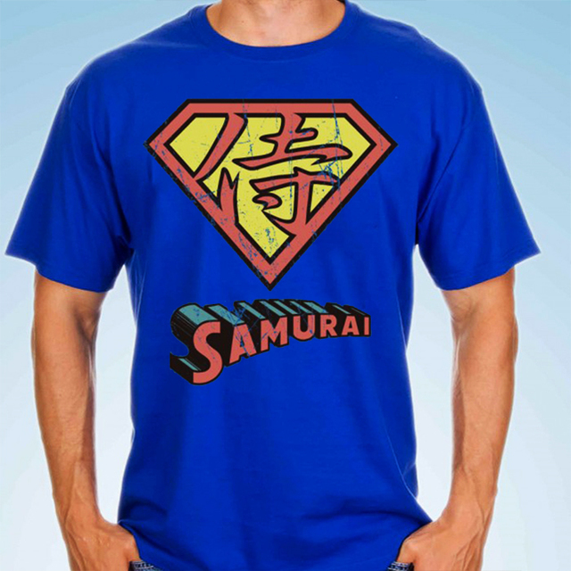 camiseta playera superman samurai