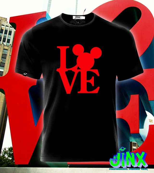 Playera o Camiseta Love Mickey mouse