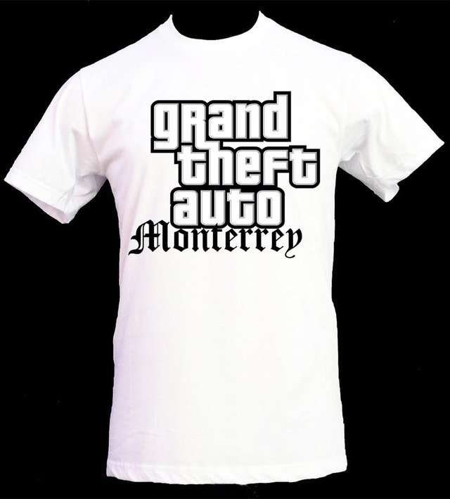playera grand thefth auto monterrey