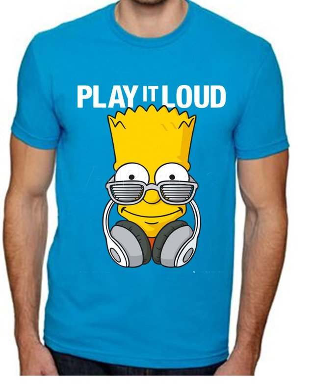 camiseta playera bart simpson