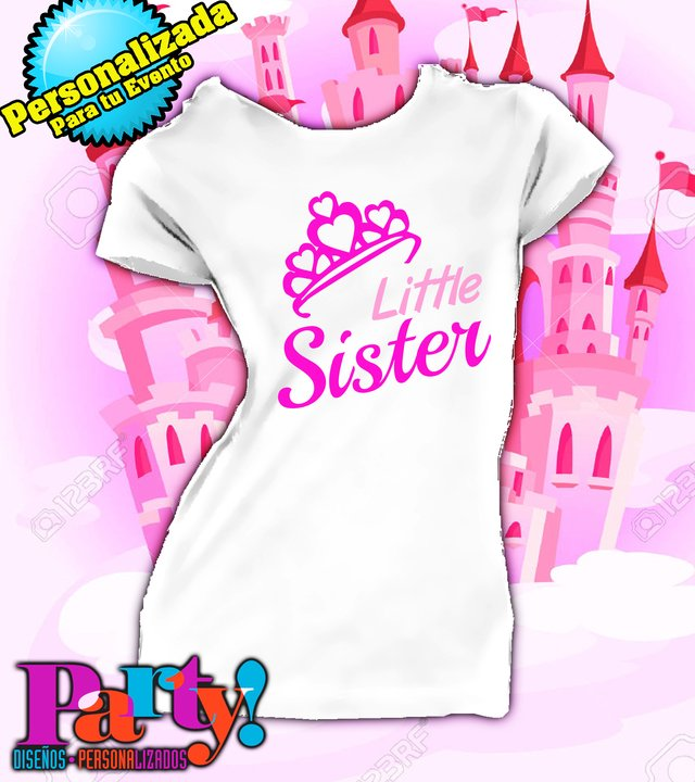 Playera Personalizada Little Sister , Mom & Dad  - comprar online