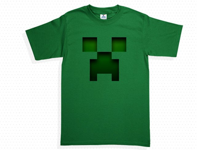 camiseta o playera minecraft