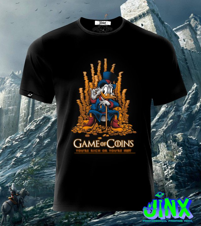 Playera o Camiseta Game Of Coins, Game of Thrones - comprar online