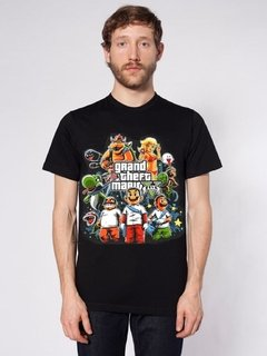 Playera Mario Grand thefth Auto Mario