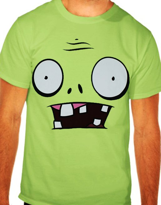 camiseta plant vs zombies