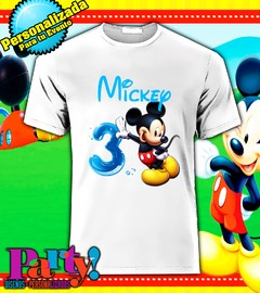 Playera Personalizada Mickey Mouse Party  en internet