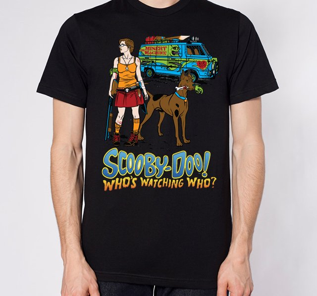 playeras, zombies, scooby doo