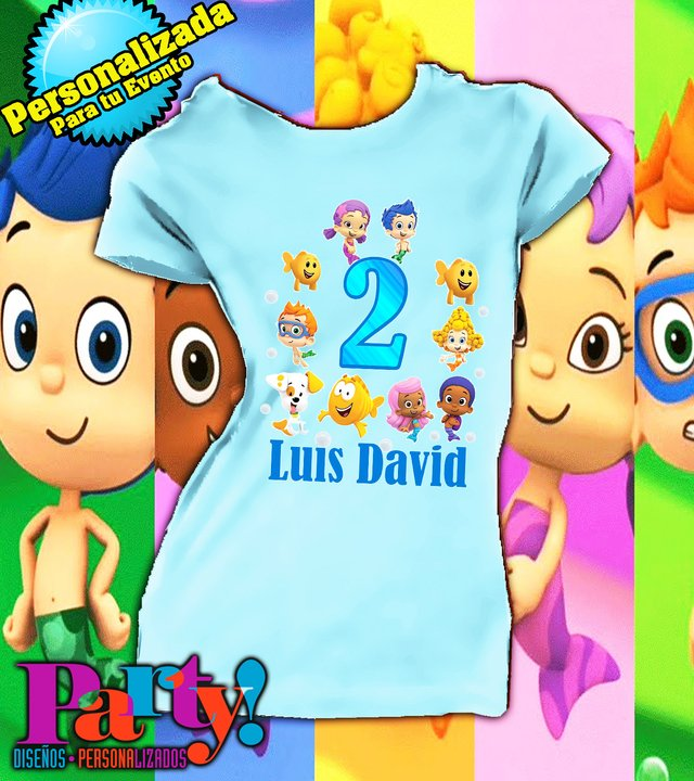 Playera Personalizada Bubble Gupies  en internet