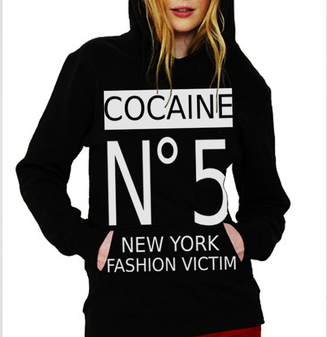 sudadera channel cocaine