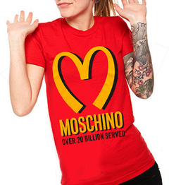 camiseta playera mcdonalds moschino