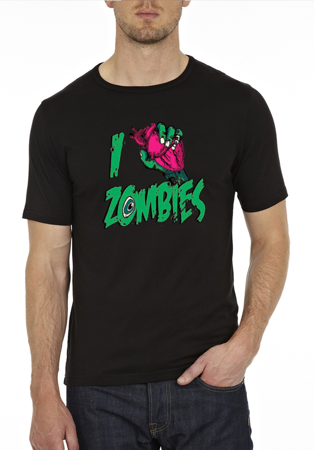 camiseta playera i love zombies