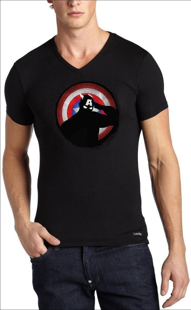 Playera Capitan America Designer - Comprar en Jinx 84c5307a42093