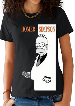 camiseta playera homero scarface