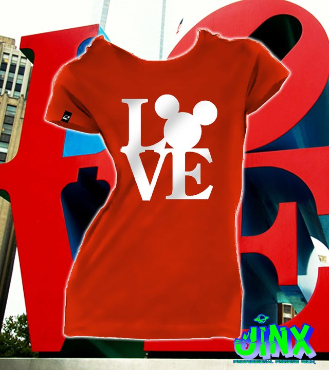 Playera o Camiseta Love Mickey mouse - comprar online
