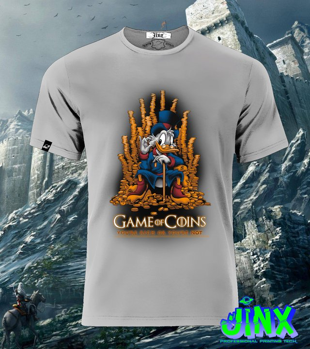 Playera o Camiseta Game Of Coins, Game of Thrones en internet