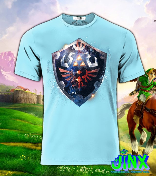 Playera o Camiseta Zelda Shield - Jinx