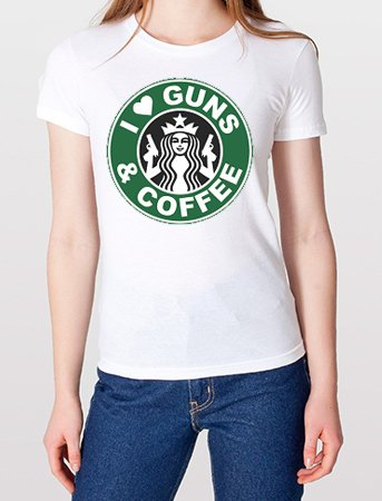 camiseta o playera arma cafe