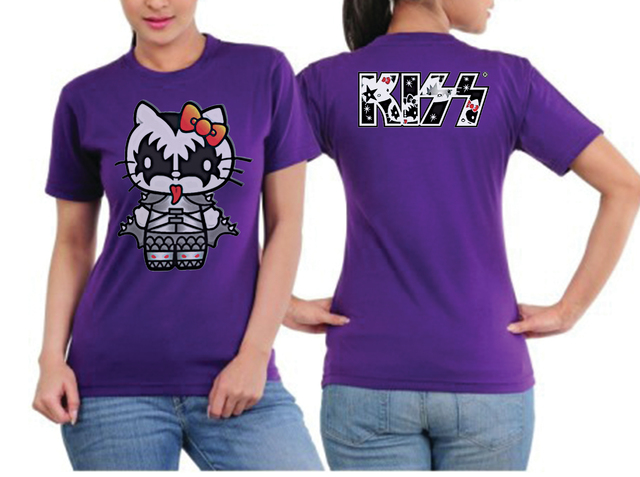 playera camiseta hello kitty rock kiss