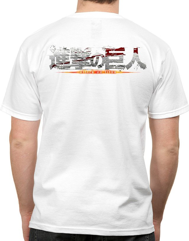 playera o camiseta attack on titan