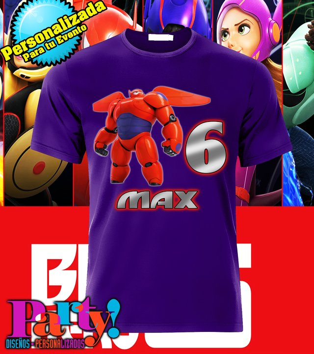 Playera Personalizada Big Hero 6 en internet