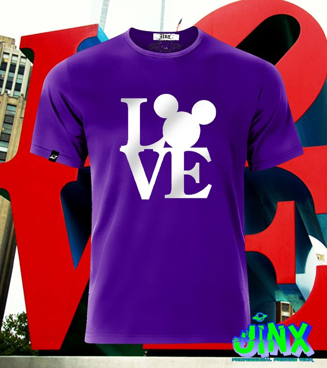 Playera o Camiseta Love Mickey mouse en internet