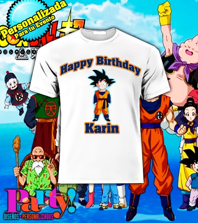 Playera Personalizada Dragon Ball Z Goku  - Jinx