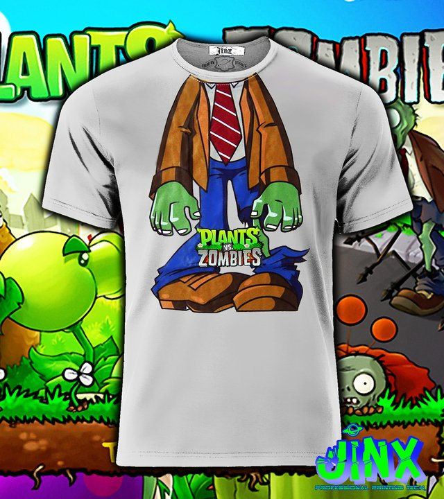 Playera o Camiseta Plantas vs Zombies en internet