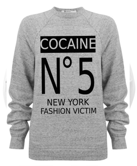 sudadera channel cocaina