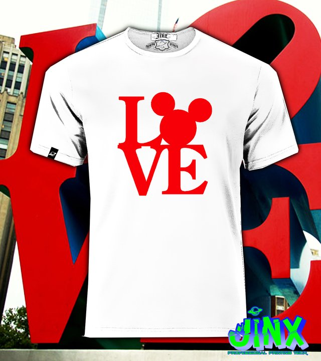 Playera o Camiseta Love Mickey mouse - Jinx
