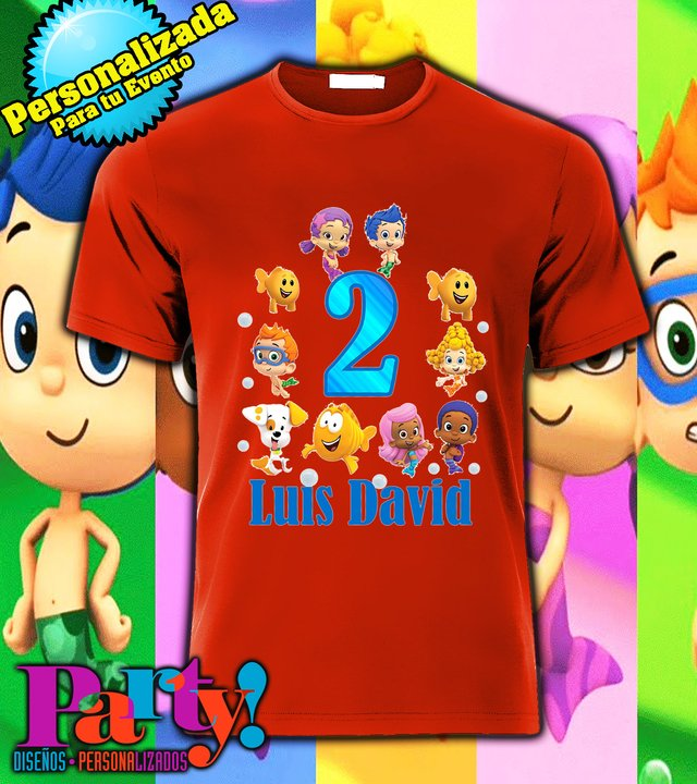 Playera Personalizada Bubble Gupies