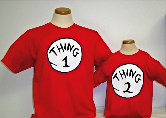 camisetas rojas thing 1