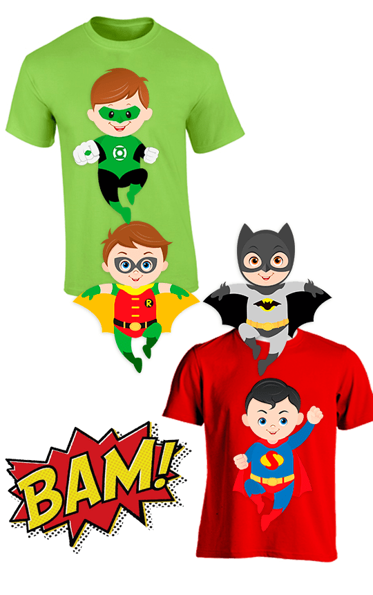 Playera SUPER HEROES KIDS PARTY - comprar online