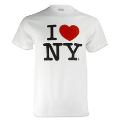 playera blanca I love new york