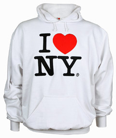 sudadera blanca i love new york