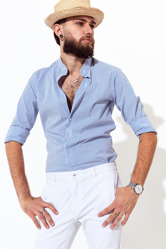 Camisa Max Light Blue