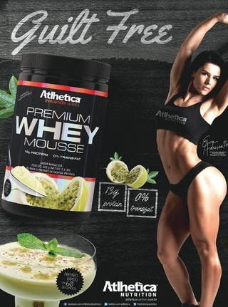 WHEY MOUSSE 600G ATLHETICA
