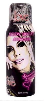 Desodorante Mendigata Spray Aerosol Attraction - 85ml Soft Love