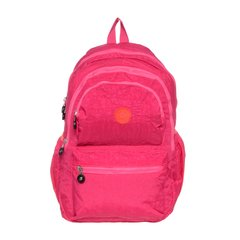 mochila urbana mujer impermeable 3 cierres tipo kipling CT 401 FUXIA