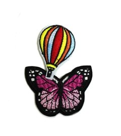 Parches Pack x 2 bordados mariposa globo