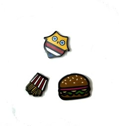 Pines Pack x 3 estampado hamburguesa