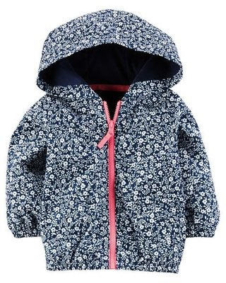 Campera Impermeable Floreada
