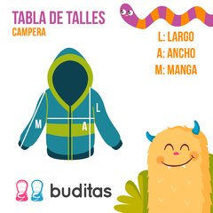 Campera Jungle Amarilla - Buditas