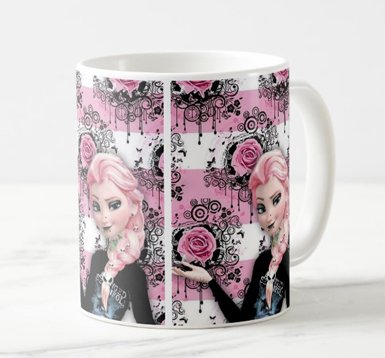 Caneca Frozen Rosas - Concepts Visual