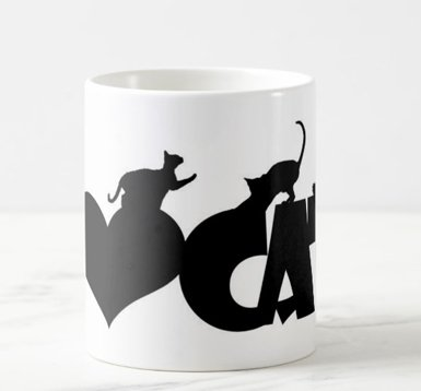 Caneca I Love Cats na internet