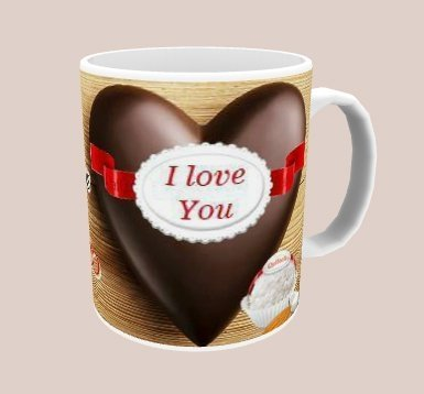 Caneca I Love You na internet