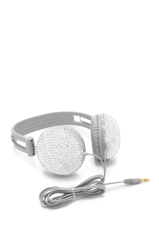 F21 - Grey Rhinestone Headphones en internet